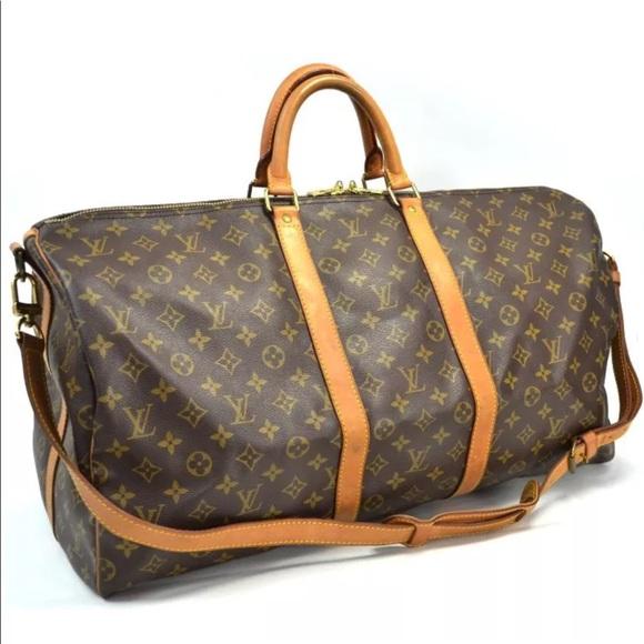 4dd45c8a99 Louis Vuitton Handbags - Authentic Louis Vuitton Keepall 55 With Strap
